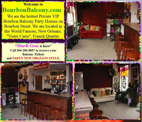 Bourbon Street Balcony Rentals New Orleans French Quarter